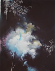 "Entropy High XX, by Joerg Dressler, oil on canvas, 28"" x 22"""