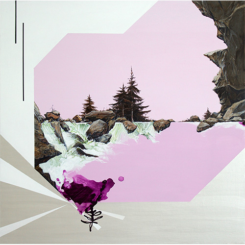"Revisited XI (Yosemite), 36x36"", acrylic on canvas, 2017"