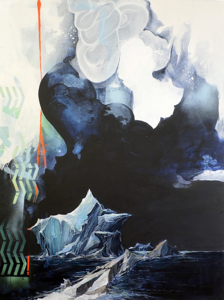 Reverence VIII, by Joerg Dressler, acrylic on canvas, 48 x 36 inches