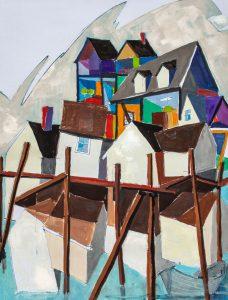 Inside / Outside #3, by Paul Kelly, oil on board, 24 x 18 inches